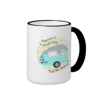 Happiness is the way you travel mugs