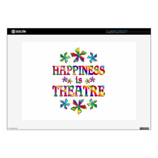 """Happiness is Theatre Decal For 15"""" Laptop"""