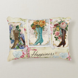 Happiness is Victorian Steampunk Boots Pillow