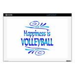 Happiness is VOLLEYBALL Laptop Decal