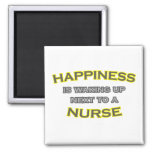 Happiness Is Waking Up Next To a Nurse Fridge Magnet
