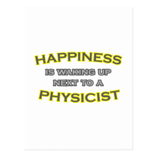Happiness Is Waking Up Next To a Physicist Postcard