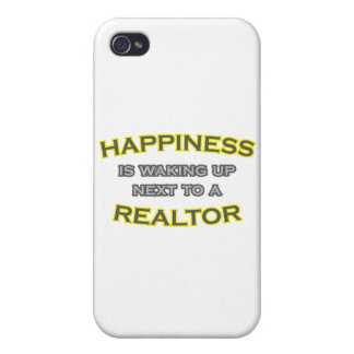 Happiness Is Waking Up Next To a Realtor iPhone 4 Cover