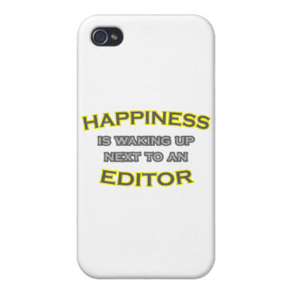 Happiness Is Waking Up Next To an Editor iPhone 4/4S Cases