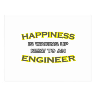 Happiness Is Waking Up Next To an Engineer Postcard