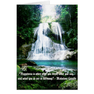 Happiness Is ... Waterfall Photo with Quote Card