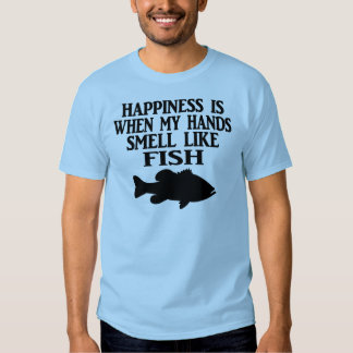 HAPPINESS IS WHEN MY HANDS SMELL LIKE FISH - MEN'S T SHIRT