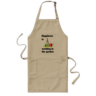 Happiness is working in the garden long apron
