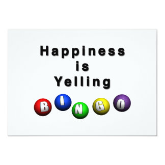 Happiness Is Yelling BINGO Card