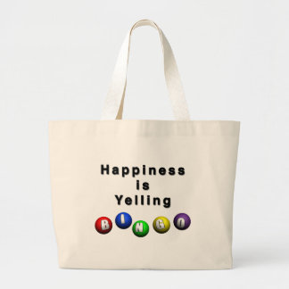 Happiness Is Yelling BINGO Large Tote Bag