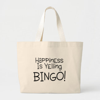 Happiness Is Yelling Bingo Large Tote Bag
