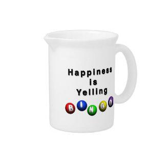 Happiness Is Yelling BINGO Pitchers
