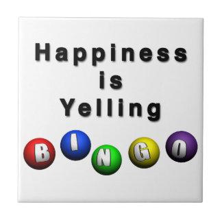 Happiness Is Yelling BINGO Tile