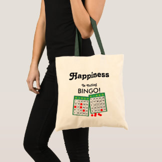 Happiness is Yelling Bingo Winner Player Prize Fun Tote Bag