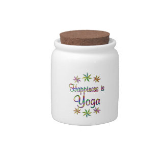 Happiness is Yoga Candy Jars