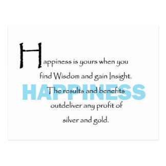 Happiness Is Yours Postcard