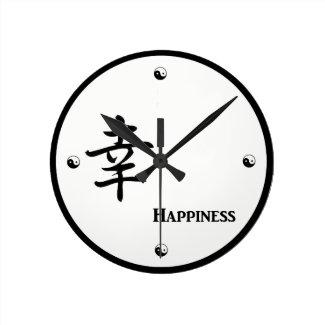 Happiness Kanji Clock