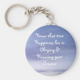 Happiness Keychain