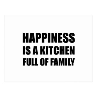 Happiness Kitchen Full Family Postcard