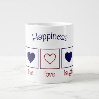 Happiness Live Love Laugh Giant Coffee Mug