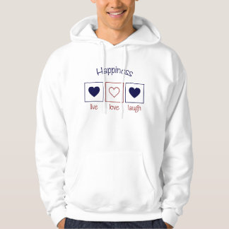 Happiness Live Love Laugh Hoodie