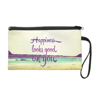 Happiness Looks Good on You Wristlet
