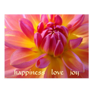 HAPPINESS LOVE JOY Post Card Happy Valentine's Day