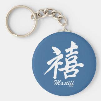 Happiness Mastiff Basic Round Button Keychain