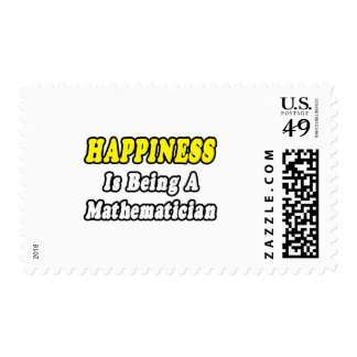Happiness...Mathematician Stamp