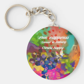 Happiness message from Voltaire. Keychain