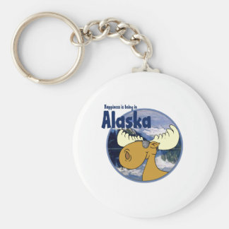 Happiness Moose -Alaska Keychain