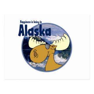 Happiness Moose -Alaska Post Card