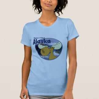Happiness Moose -Alaska T-Shirt