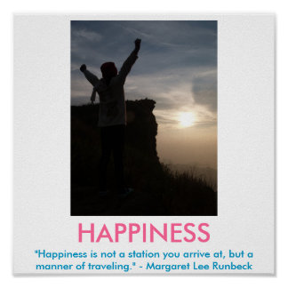 HAPPINESS motivational poster