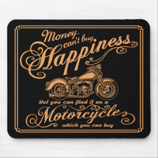 Happiness - Motorcycle Mouse Pad