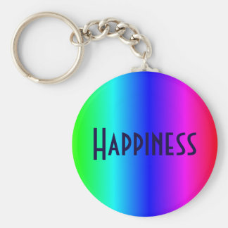 Happiness multi-colored key-ring keychain