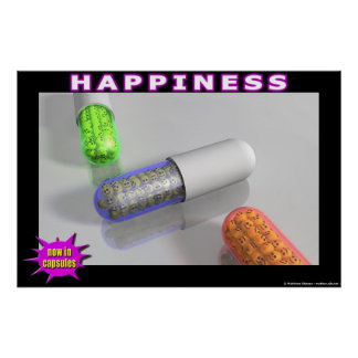 Happiness - now in capsules! print