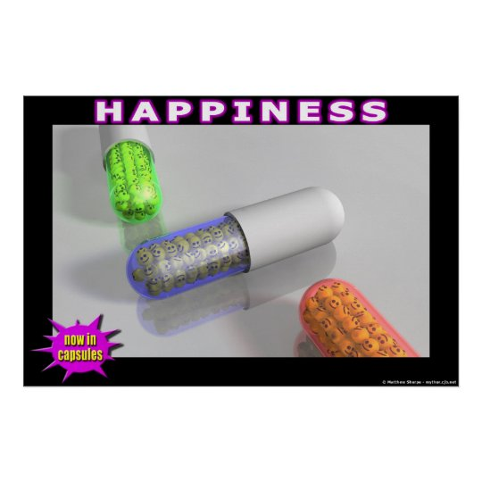 Happiness - now in capsules! poster