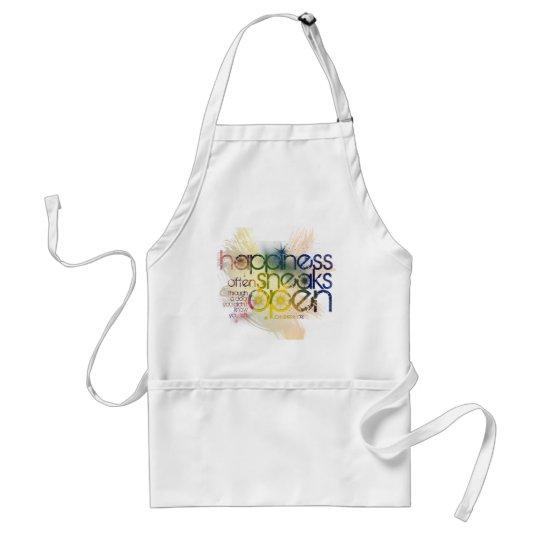 happiness often sneaks in through a door adult apron