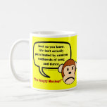 Happiness only occurs in the movies not real life classic white coffee mug