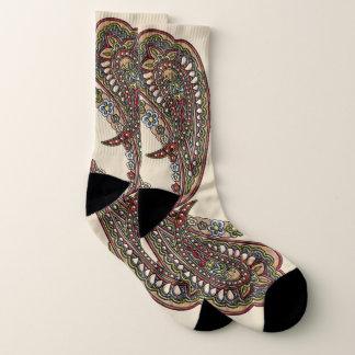 Happiness Paisley Boho Gems Socks