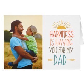 Happiness | Photo Father's Day Card