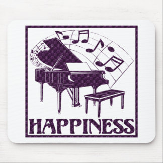 Happiness: Piano Mouse Pad