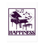 Happiness: Piano Post Card