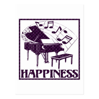 Happiness: Piano Postcard
