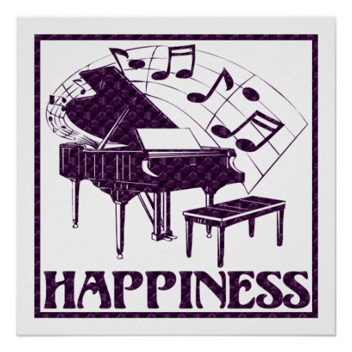 Happiness: Piano Poster