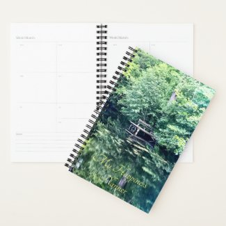 Happiness Planner Pier on a Forest Pond