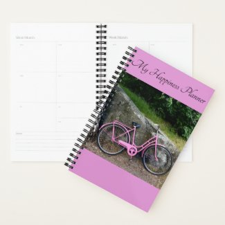 Happiness Planner Pink Bike