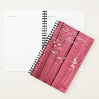 Happiness Planner Red Wall