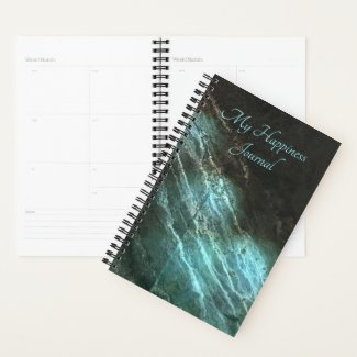 Happiness Planner Turquoise Metal
